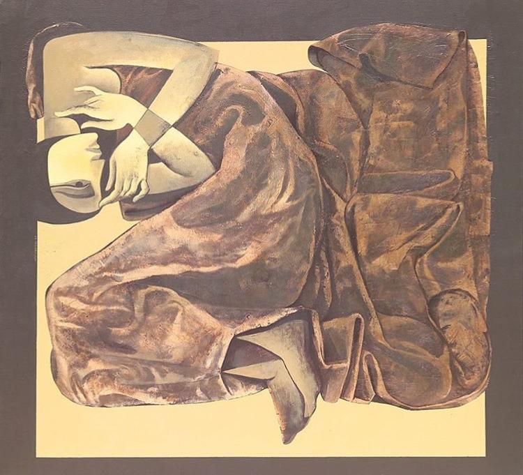 اللوحة عمل فني للفنان السوري صفوان داحول